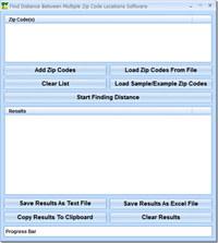 Find Distance Between Multiple Zip Code Locations Software