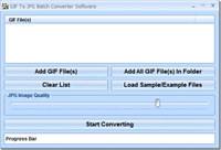 GIF To JPG Batch Converter Software screenshot medium