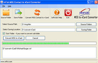 MSG to vCard converter