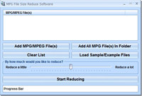 MPG File Size Reduce Software