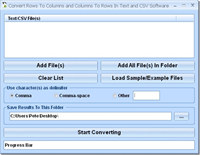 Convert Rows To Columns and Columns To Rows In Text and CSV Software screenshot medium