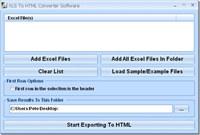 XLS To HTML Converter Software