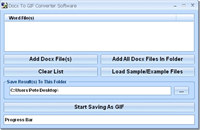 Docx To GIF Converter Software
