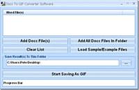 Docx To GIF Converter Software screenshot medium