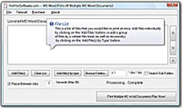 Print multiple word documents and ms word files Software