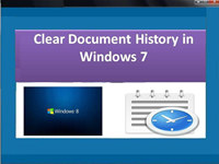 Clear Document History in Windows 7
