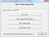 AzSDK TIFF To PDF ActiveX DLL