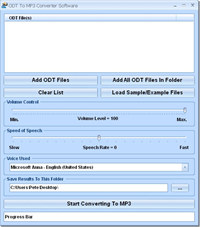 ODT To MP3 Converter Software