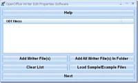 OpenOffice Writer Edit Properties Software