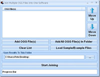Join Multiple OGG Files Into One Software