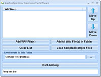 Join Multiple WAV Files Into One Software