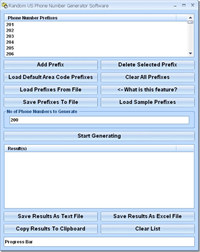 Random US Phone Number Generator Software