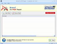PDF File Repair Solution