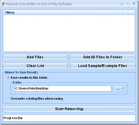 Remove Extra Enters At End Of File Software screenshot medium