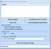 Convert Email Addresses To Images Software