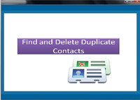 Find and Delete Duplicate Contacts