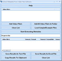 Extract Metadata From Video Files Software