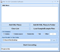 KML To CSV Converter Software