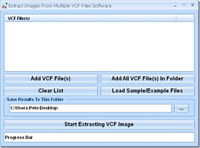 Extract Images From Multiple VCF Files Software