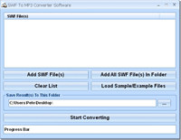 SWF To MP3 Converter Software
