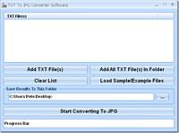 TXT To JPG Converter Software