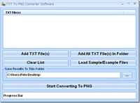 TXT To PNG Converter Software