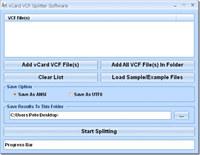 vCard VCF Splitter Software