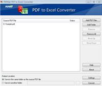 PDFBat PDF to Excel Converter