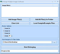 Enlarge Multiple Images Software screenshot medium