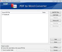 PDFBat PDF to Word Converter