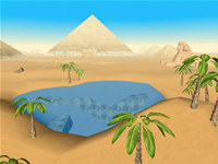 The Pyramids 3D Screensaver for Mac OS X