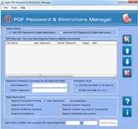 Apex Disable PDF Password