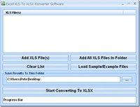 Excel XLS To XLSX Converter Software