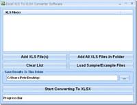 Excel XLS To XLSX Converter Software