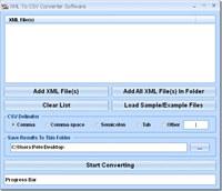 XML To CSV Converter Software