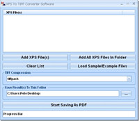 XPS To TIFF Converter Software screenshot medium