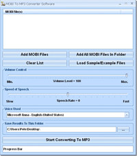 MOBI To MP3 Converter Software screenshot medium