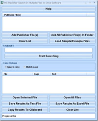 MS Publisher Search In Multiple Files At Once Software