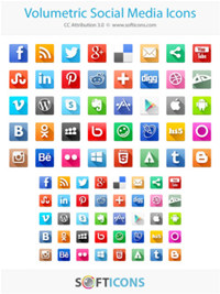 Volumetric Social Media Icons