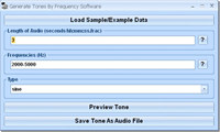 Generate Tones By Frequency Software