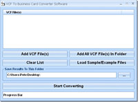 VCF To Business Card Converter Software