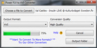 Power FLV to AVI Converter screenshot medium