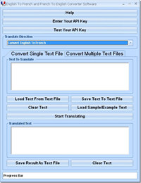 English To French and French To English Converter Software screenshot medium