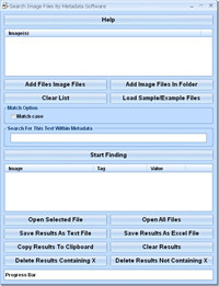 Search Image Files By Metadata Software