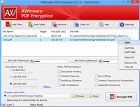 Protect pdf file with password