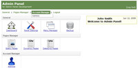 PHP Site Control Panel Website Back End Script