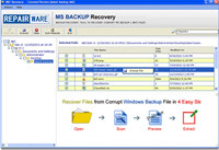 RepairWare MS Backup Recovery Tool