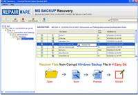 RepairWare MS Backup Recovery Tool
