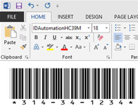 Free Code 39 Barcode Font