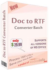 Doc to RTF Converter Batch
